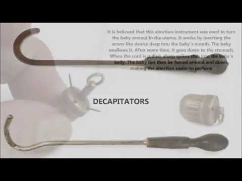 ABORTION INSTRUMENTS AND TOOLS