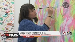 Artists finding lots of work in KC