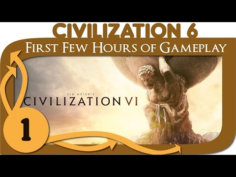 Civilization 6 Gameplay - Ep. 1 - First Few Hours of Civ 6 Gameplay (as Pedro / Brazil)