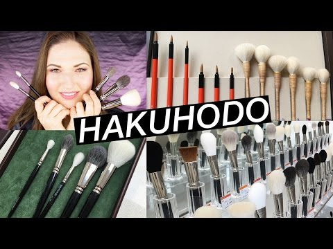 Japanese Makeup Brushes: HAKUHODO Flagship Store Haul