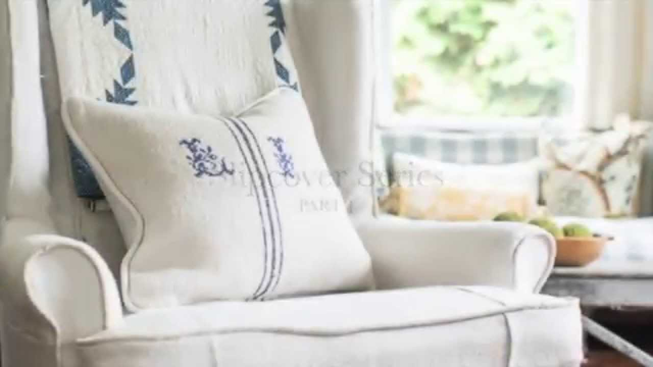 Attrayant How To Make A Slipcover | Part 1 | Intro U0026 Custom Piping   YouTube