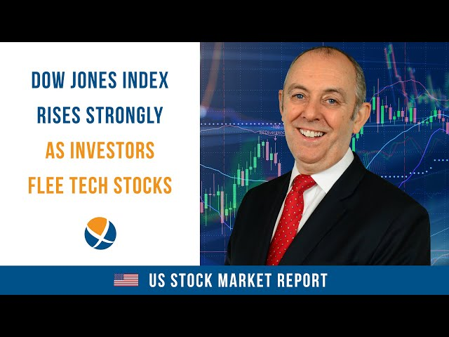 Dow Jones Industrial Average Rises Strongly as Investors Flee Tech Stocks