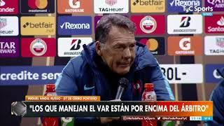 Miguel Ángel Russo, crítico con el arbitraje: