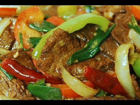 How To Cook Mongolian Beef with Veggie, Chinese Cooking Style