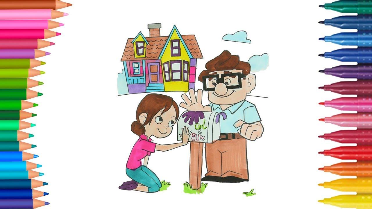 Dibujar Y Colorea Up Una Aventura De Altura Dibujos Para Ninos
