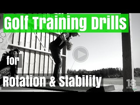 Golf Training Drills for Rotation and Stability