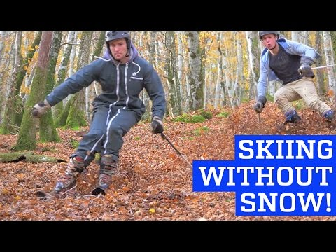 Skiing Without Snow - Downhill in Leafy Forest!