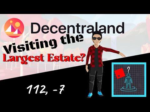 Decentraland - Visiting the Largest Estate? Blockchain Gaming