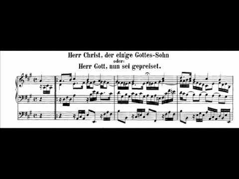 J.S. Bach - BWV 601 - Herr Christ, der ein'ge Gottes Sohn