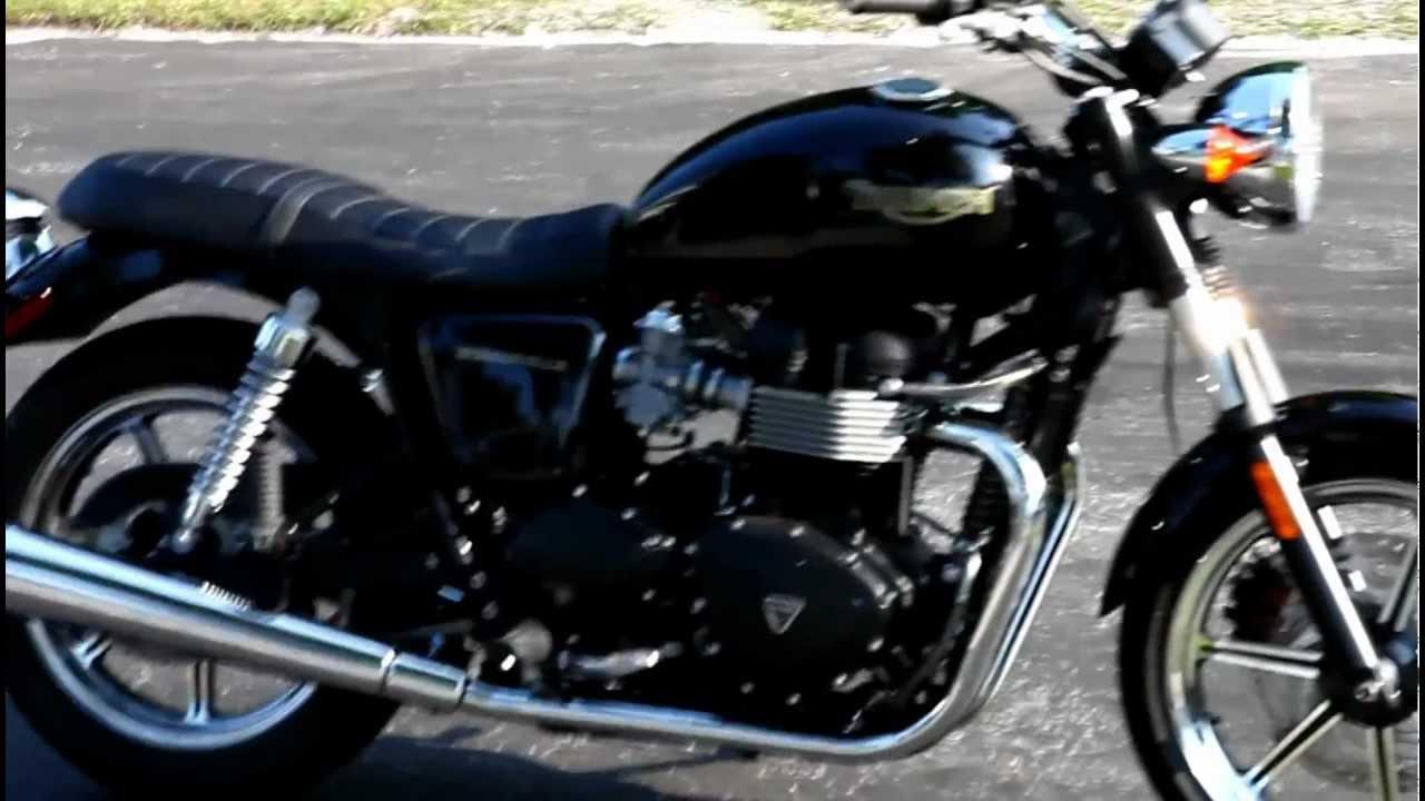 2012 Triumph Bonneville black 1 - YouTube