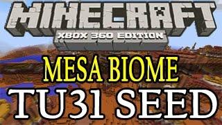 Minecraft ( TU31 ) Xbox 360 / One / PS3 / PS4 New Mesa Biome Seed Showcase - Title Update 31