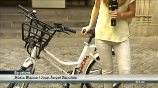 TV3 - Telenotícies comarques - Presentació del Bicing elèctric a Barcelona
