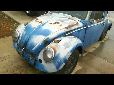 61 vw bug pastel blue from barn find to daily driver show