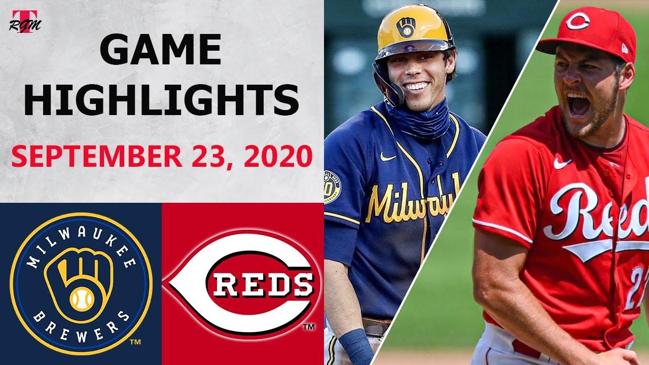Milwaukee Brewers vs. Cincinnati Reds Highlights | September 23, 2020 (Houser vs. Bauer)