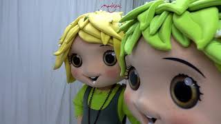 Girl Mascot and Boy Mascot.