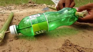 Primitive Technology: Simple DIY Bird Trap Make from  IZE bottle That Work 100% By Smart Boy