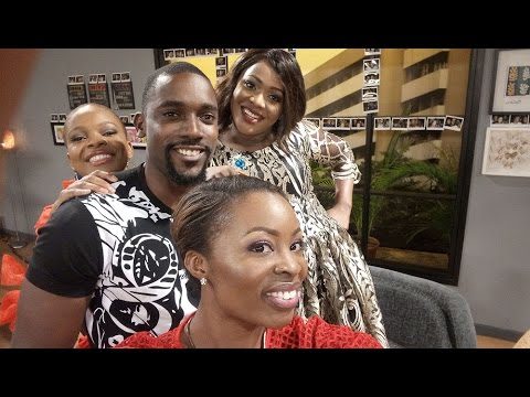 """Popular comedian Helen Paul had the Loftmates in stitches as they discuss 'Living The Hype""""."""