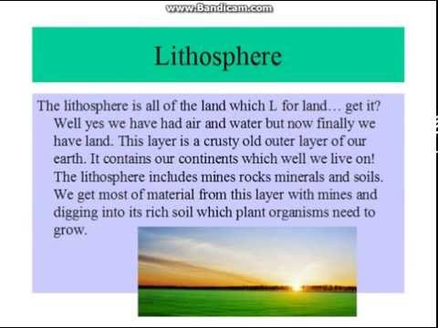 Basic facts of the Atmosphere, Lithosphere and Hydroshpere ...