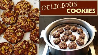 Biscuit Recipe Without Oven - Cookies Recipe - Eggless Cookies Recipe - Aliza In The Kitchen