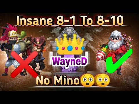 Insane 8-1 To 8-10 | Without Mino/Ronin😲😲😲 | Santa Boom/Cosmo🤩🤩 | F2p Style | Castle Clash