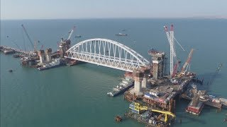 Controversial bridge connecting Russia to annexed Crimea will be the longest in Russian history