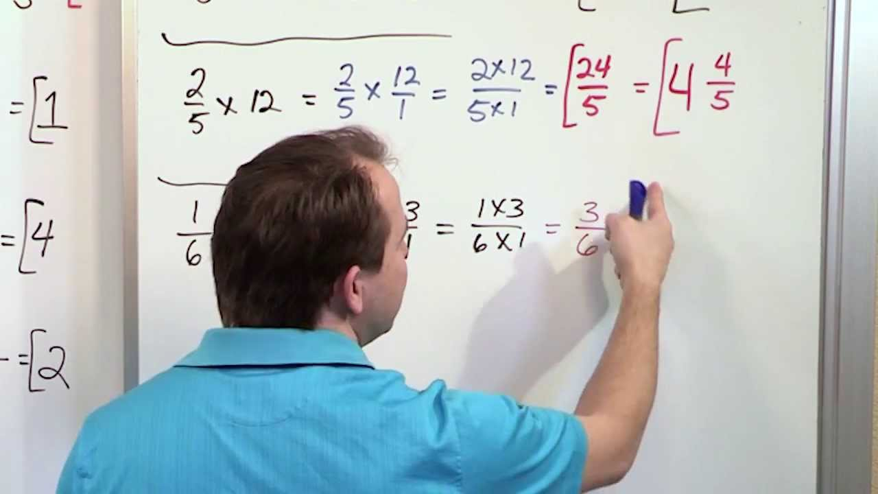 small resolution of Multiplying Whole Numbers by Fractions - 5th Grade Math - YouTube