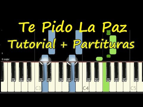 TE PIDO LA PAZ Piano Tutorial Cover Facil + Partitura PDF Sheet Music Easy Midi thumbnail