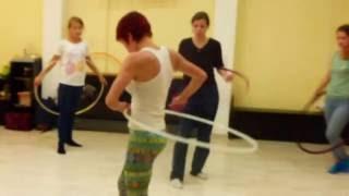 Открытый урок по танцу с обручем (остановка обруча)