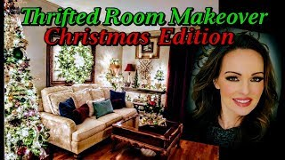 Thrifted Room Makeover *Christmas Edition* Cozy Christmas Room