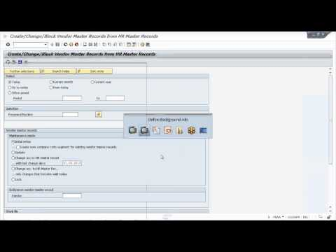 Setting up of batch jobs in SAP