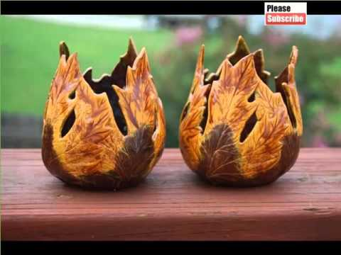Famous Handmade Ceramic Candle Holders   Lovely Arts U0026 Ceramic Decoration  Picture Gallery   YouTube