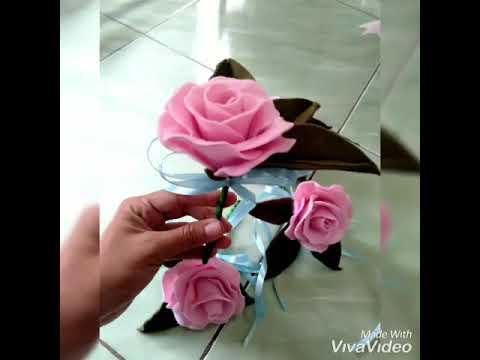 Hiasan Bunga Mobil Pengantin Bunga Flanel