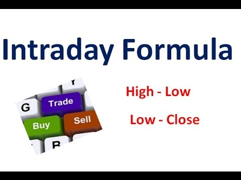 Intraday Simple trading formula  (High- Low) (Low - Close)