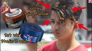 Gatsby hair wax vs Set wet hair wax feat. TBG Lifestyle
