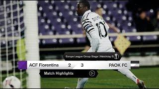Τα στιγμιότυπα του Φιορεντίνα-ΠΑΟΚ - PAOK TV