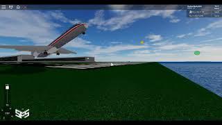 Roblox plane takes off