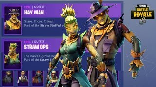 *NEW* HAY MAN & STRAW OPS SKINS ITEM SHOP UPDATE (Fortnite Battle Royale)