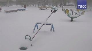На Карелию обрушились майские снегопады