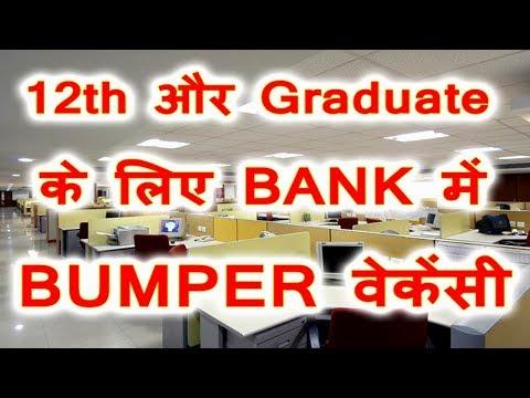 12th Pass Aur Graduate Ke Liye Bank Me BUMPER VACANCY जाने कैसे करे APPLY   Job In Bank