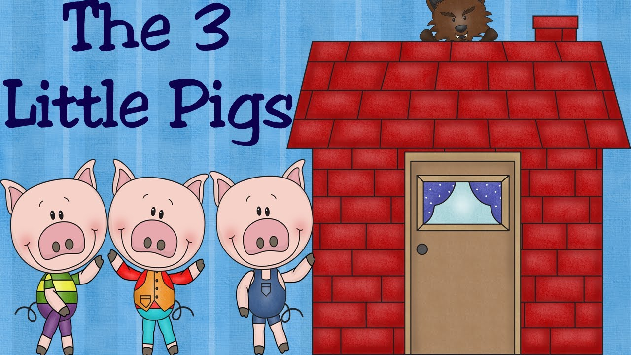 The three little pigs and the big bad wolf fairy tale for children