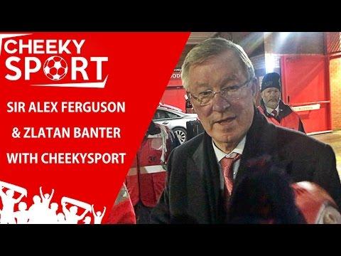 Sir Alex Ferguson And Zlatan Ibrahimovic Banter With CheekySport After Man Utd 1-1 Liverpool