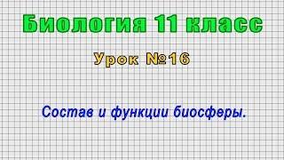 Биология 11 класс (Урок№16 - Состав и функции биосферы.)