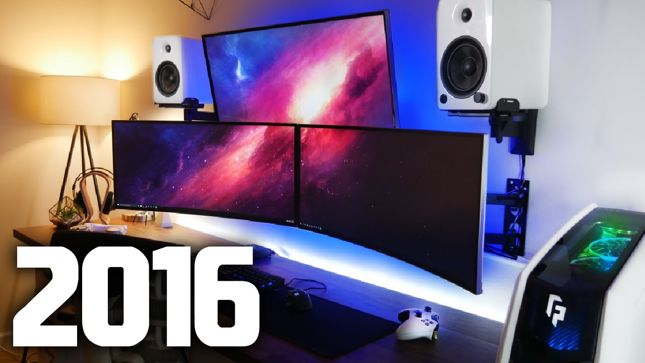 my new ultimate gaming setup room tour summer 2016 v2. Black Bedroom Furniture Sets. Home Design Ideas