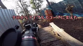 2020年1月3日 千葉BATTLEさんにて。 新春サバゲーの様子。 リンガーハット攻防戦 攻撃側 使用機材 TOKYOMARUI 次世代電動ガン Mk18mod1 GoPro HERO5.