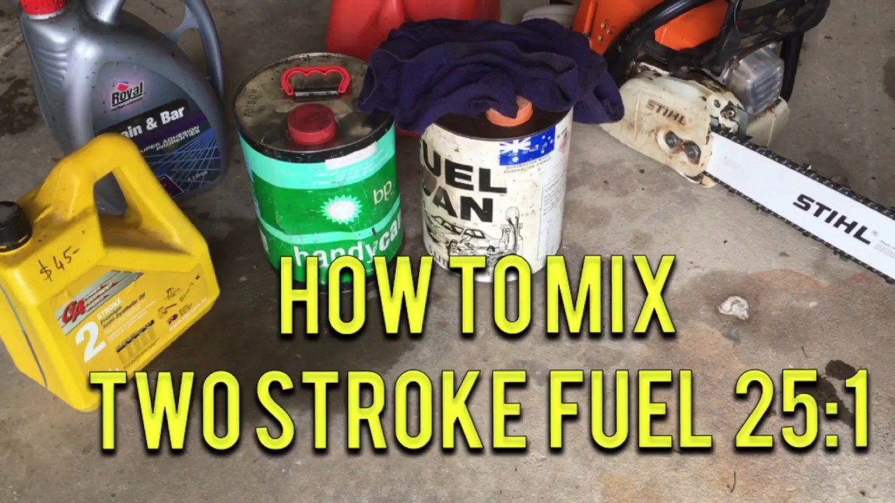 How to Mix 2 Stroke Fuel for your Chainsaw 25:1