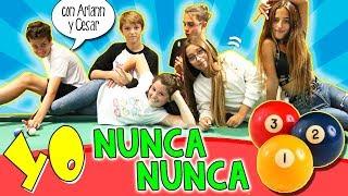 Reto YO NUNCA NUNCA con ARIANN MUSIC y su Novio CESAR ABRIL ¡¡Jugando al BILLAR!! 🤐Challenge