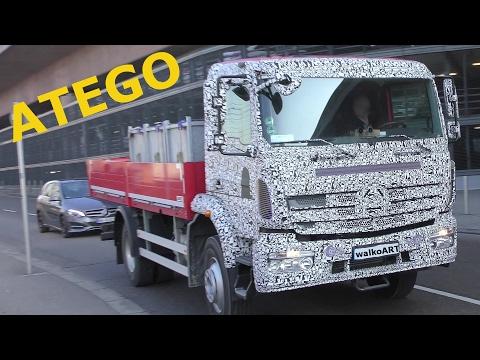 Mercedes Erlkönig ATEGO 2018 Daimler Trucks - auf der Straße - on the road 4K SPY VIDEO