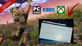 COMMENT JOUER A FORTNITE AVEC LES JOUEURS PS4, XBOX ONE ET PC N'2