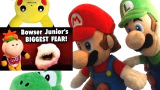 SML Movie: Bowser Junior's Biggest Fear! Mario And Luigi's Reaction (Pikachu And Yoshi)