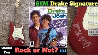 1 million dollar drake and josh guitar?? the red squire stratocaster signed by mr bell wyron 104